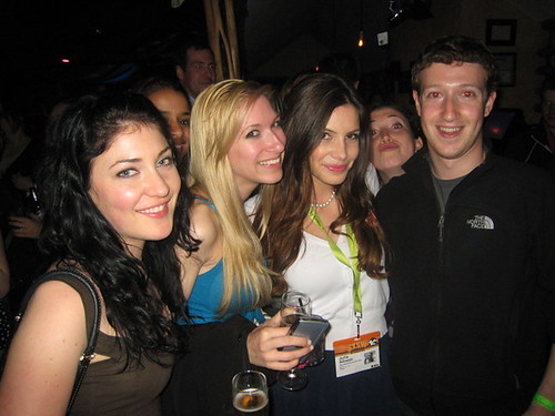 I guess Marc Zuckerberg - CEO of Facebook - knows how to be social at a party