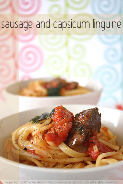 Sausage and Capsicum Linguine