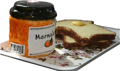Bar Code on Marmalade Jar Cake