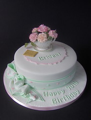 """Coffee Morning""  70th Birthday Cake (abbietabbie) Tags: cake explore birthdaycake icing madeira xl carnations fondant buttercream sugarpaste mywinners abigfave"