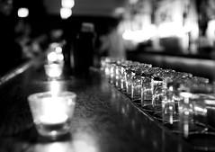 Drip (Karen.Strolia) Tags: sanfrancisco blackandwhite bar candles 10 weak tumblers fav10