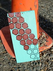 Hexagons for SNAP (freeartworcester) Tags: streetart stencil hexagon hexagons molecules