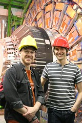 Brian Cox and me at the Large Hadron Collider.