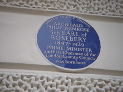 Photo of Archibald Philip Primrose blue plaque