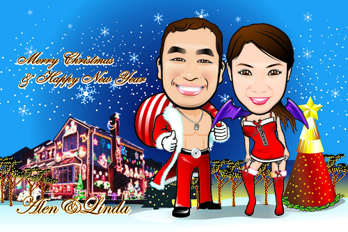 Q-Digital Caricatures - Christmas 1
