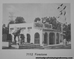 The original Taco Bell in Downey California (Dying In Downey) Tags: california ca old city classic sign vintage michael bell mascot taco 70s firestone 1970s seventies blvd poulin downey 7112