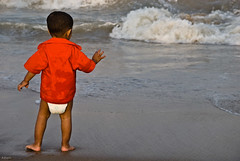 Optimism (knowsnotmuch) Tags: beach kid waves 427 diapers elliots explored 55200vr