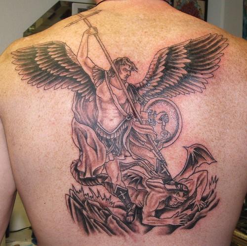 saint tattoo knoxville: st michael tattoo stencil