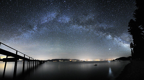 Milky Way Lake Tahoe Panorama