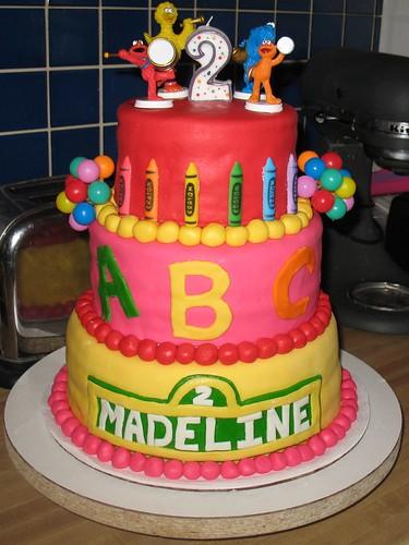 sesame street cupcakes. sesame street cake