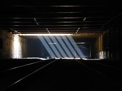 Six Sunbeams (Laser Burners) Tags: nyc newyorkcity graffiti manhattan tunnel amtrak gothamist sunbeams metronorth darkdays citynoise freedomtunnel