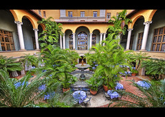 The rear courtyard . . (grantthai) Tags: coral hotel florida miami biltmore gables hdr coralgables thebiltmorehotel firstquality 5xp grantthai grantcameron