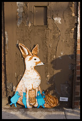 a Fennec Fox for Chicago (Bonus Saves) Tags: street chicago art cardboard fox carton bonus fennec faf