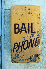 BAIL PHONE (dogwelder) Tags: california yellow box telephone vannuys zurbulon6 bail zurbulon gatturphy