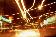 Urban Landscape Triptych #3 - Car at Lights