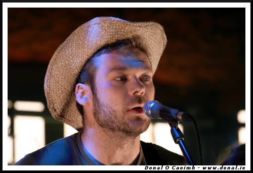 Aaron Dillon at the Spiegeltent