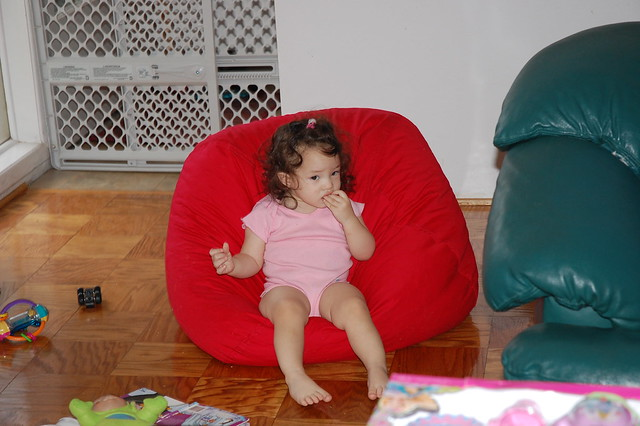 Bean bag sitting