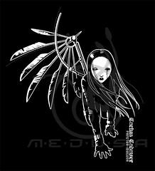 Mechanical angel - CACTUS CADAVER T- SHITR DESIGN (Medusa The Dollmaker) (Medusa The Dollmaker) Tags: cactus shirt illustration angel t wings mechanical alas medusa camiseta ilustracion cadaver dollmaker