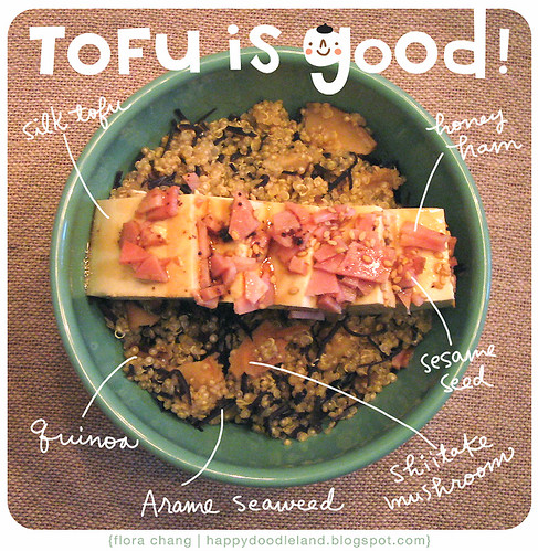 My Recipe: Honey Ham Tofu Quinoa Bowl
