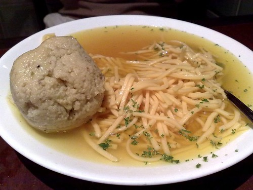 Combination Matzoh Ball and Noodles Soup
