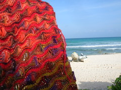 Seafoam wrap with view of the Mayan Palace Resort beach (4)