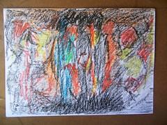 Carbonilla y crayolas (vartanvartanian) Tags: color luz pencil watercolor uruguay paint arte sombra crayons acuarela fotografia dibujo pintura artista paints vartan leo crayolas lpiz acrlico migues canelones vartanian