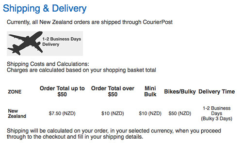 Torpedo7 NZ Shipping