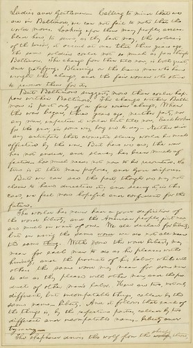 Manuscript of Lincoln's Baltimore Address, ca. April 1864 (p1)