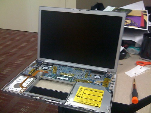 Macbook Ripped Apart