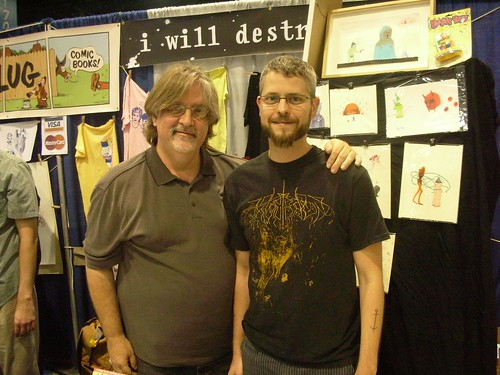 Me and Matt Groening (no badges)