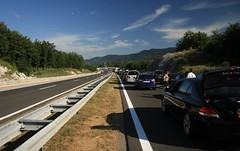 Traffic jam before MALA KAPELA tunnel (Yacenty) Tags: road traffic croatia jam img6456