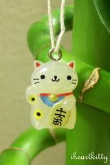 maneki nyanko >^..^< (iheartkitty) Tags: cute japan cat japanese charm bamboo lucky kawaii manekineko sanx nyanko iheartkitty