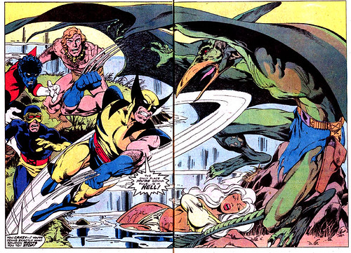 Double-page spread from Uncanny X-Men #115, by John Byrne