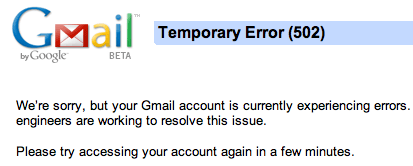 Gmail Borked