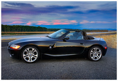 Linticular Z4 (BHCMBailey) Tags: sunset clouds bmw z4 roadster convertable linticular