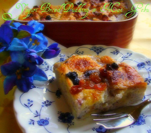 Yogurt Bread Pudding