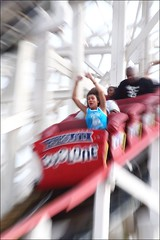 The Correct Use of Roller Coasters (Linus Gelber) Tags: nyc newyork blur brooklyn fun coneyisland ride zoom entertainment amusementpark rollercoaster cyclone astroland zoomblur thursdaywalk canon28135mmisusm utata:project=tw122