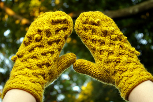 Yellow Harvest Mittens