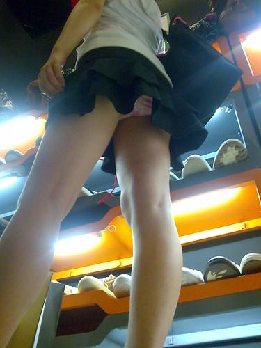 精品,街拍鞋店MM长腿丰臀 - 辣妹 - 辣妹空间