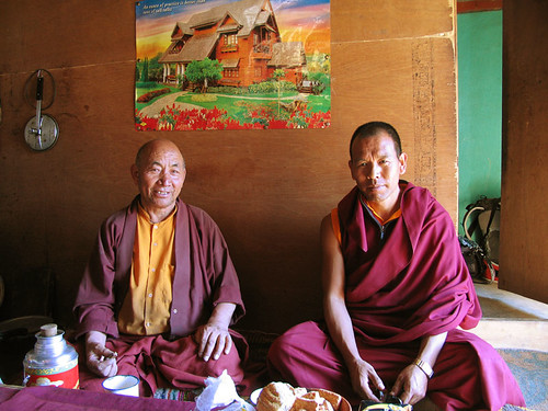 Monks. Gotsangpa Gompa