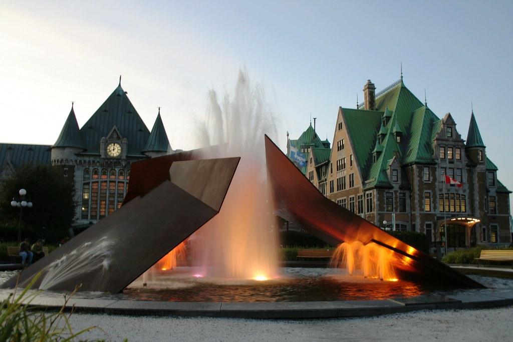 Fontaine Éclatement II - Charles Daudelin, Gare du Palais, Québec