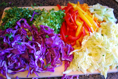 chopped veges