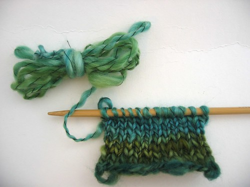 Egyptian Green Spinning Test & Swatch