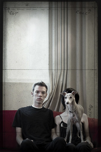 unplanned self-portrait with dog &.