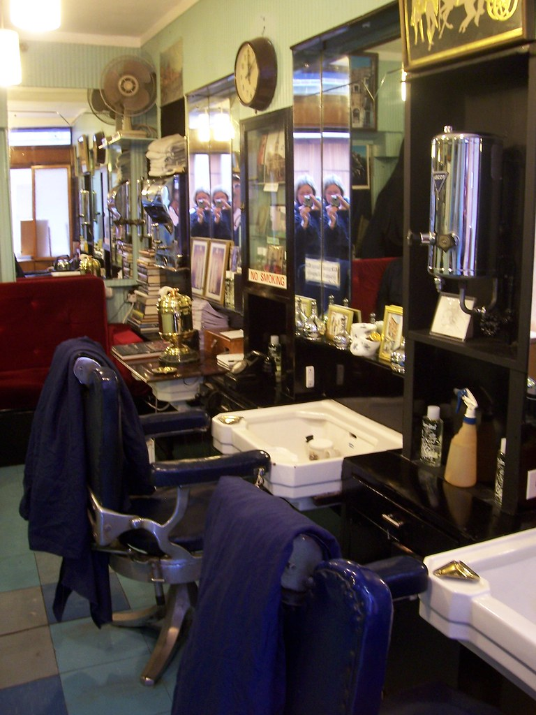 Inside Briggs Barber Shop, Piccadilly, London