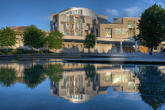 Scottish Parliament Reflection (Surely Not) Tags: reflection scotland nikon edinburgh scottish parliament moo hdr d80 greatscots yourphototips thephotoproject