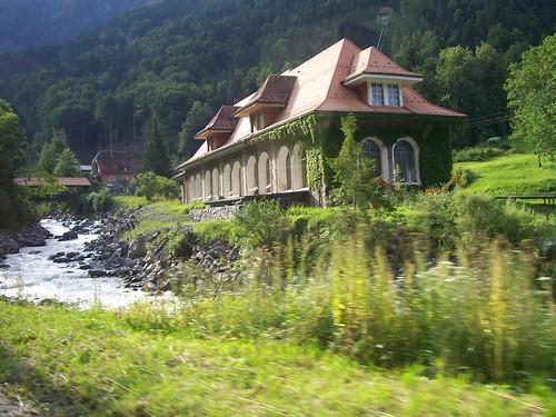 View from the Berner Oberland Bahn train, somewhere near Lütschental