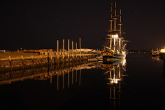 Friendship at Night (Superfluous Man) Tags: reflection salem massachussetts bulbexposure derbywharf friendshipofsalem