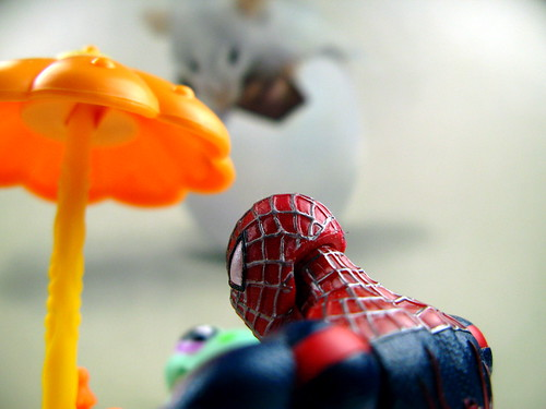 Spiderman and Froggie's lunch is about to be rudely disrupted