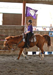 Throwing Attitude (weatherly_s) Tags: friends horses kids portraits action candid riding drillteam trot canter horsemanship galope digitalartfx thehorsemanshipschool